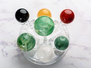 Bộ thất tinh trận đồ đá thạch anh 5 màu, mệnh Hỏa và Mộc - TT06