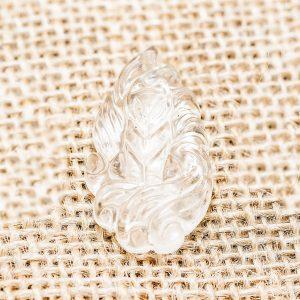 Mặt dây chuyền hồ ly chúa thạch anh trắng, mệnh Kim và Thủy - HL03