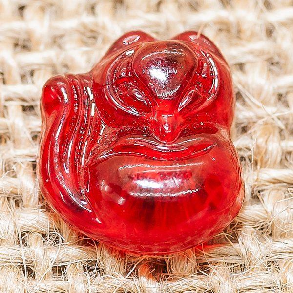 Mặt dây chuyền hồ ly mã nảo đỏ, mặt nhẫn, mệnh Hỏa và Thổ - HL10