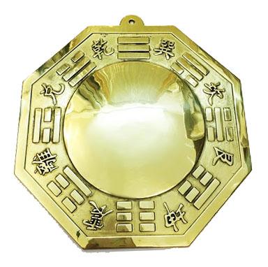 Các loại gương cầu lồi phong thủy: Gương bằng đồng